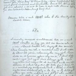 Kadácsi Inczeffy József, székelyderzsi unitárius lelkész 1838. évi jelentése